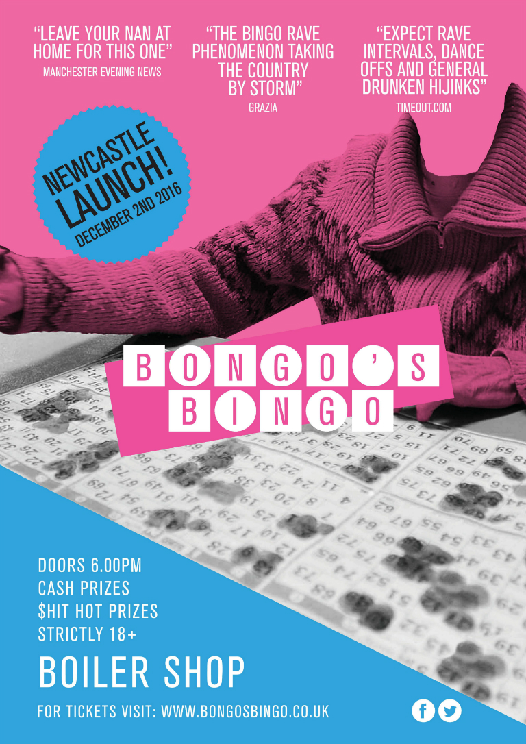 Bongo's Bingo - Friday 2nd Dec - Newcastle